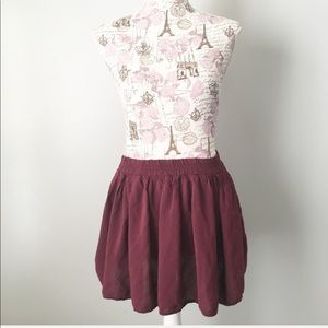 Brandy Melville Maroon OS cotton skirt